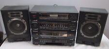 Soundesign Stereo System Model 5957Blk Vintage Dual Deck Cassette Player Radio