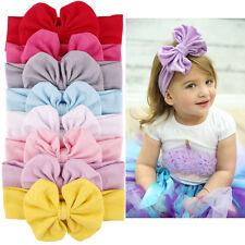 HOT 9 Pcs Baby Girls Headband Infant Bowknot Hair Band Headwear Hair Accessories