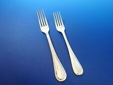Reed & Ribbon Silverplate Dinner AND Luncheon Fork Sheffield, England (#1195)