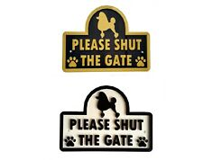 Poodle - Please Shut The Gate - 3D Dog Plaque - House Garden Door Wall Sign