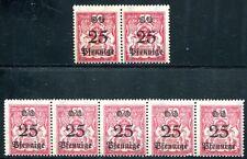 DANZIG 1923 184 ** STREIFEN VARIANTEN POSTFRISCH LOSE 154€(J7296