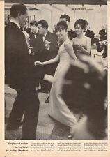 1961 magazine photo AUDREY HEPBURN does the TWIST aboard Liner FRANCE  50817