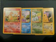 Charmander Squirtle Bulbasaur Pikachu All 4 Unlimited Starters Base Set