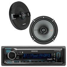 """Kenwood KMMBT322U Car Bluetooth Receiver With Pair Of Kicker 6.5""""  Speakers"""