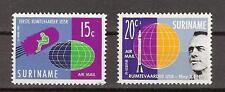 Luchtpost LP 33 - LP 34 MNH PF Suriname 1961 ruimtevaart airmail