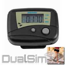 Elektronischer Schrittzähler Pedometer Schrittmesser Kalorienzähler schwarz Clip