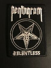 """Pentagram Relentless Demonic Witch Music Embroidered Iron On Patch 2.25""""x3.25"""""""