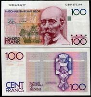 BELGIUM 100 FRANCS ND 1982-1994 P 142 VF