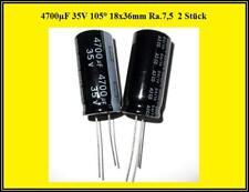 Yageo Elko Elektrolyt Kondensator Capacitor 4700µF 35V 18x36mm 2 Stück