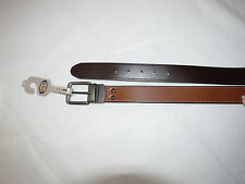 Fossil leather belt Men's MB100720142 Fitz Reversible Dark Brown size 42 105/42