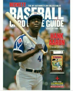 New 2021 Beckett Baseball Card Annual Price Guide 43rd Edition With Hank Aaron