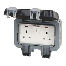 10 X BG Storm WP22 Outdoor Weatherproof Double Socket Ip66 Twin Switches 13a