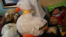 "New Deluxe 13"" Amela White Duck Quack Quack Fun Easter Farm Toy Ultra Soft A01"