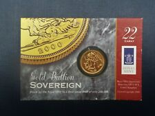 More details for millennium year 2000 royal mint gold sovereign unique 21st birthday or xmas gift