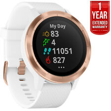 Garmin Vivoactive 3 GPS Smartwatch White w/ Rose Gold + 1 Year Extended Warranty