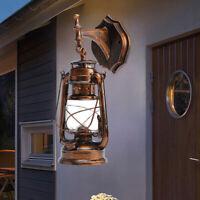 Bronze 15 in Lamp Oil Metal Lantern Hanging Light Rustic Classic Wall Light E27