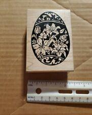 Great Impressions #F01 Flower Egg Rubber Stamp