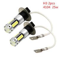 2Pcs H3 4014 de Alto Voltaje 1100LM LED Blanca Niebla DRL Luz Bombilla Dc 12V