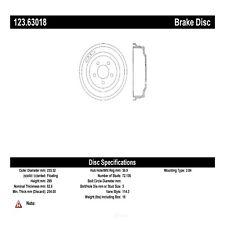 Brake Drum-Sedan Rear Centric 123.63018