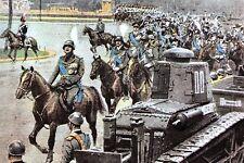 WW2 - Mussolini passe les troupes italiennes  en revue en 1934