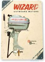Wizard Outboard Motors Classic Vintage Retro Metal Tin Sign
