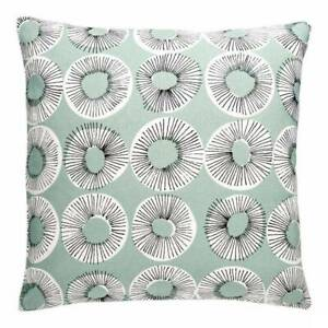 HABITAT Evelyn 45 x 45cm Patterned Cushion - Green only £12.50 FREE P&P