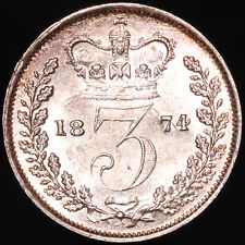 More details for 1874   victoria threepence 'error strike' 'mis-struck 3'   silver   km coins