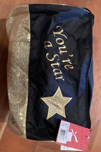 "Capezio ""You're A Star"" barrel dance bag - Black And Gold"