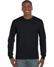 Cotton Crew Neck Long Sleeve Stretch T-Shirts for Men