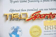 24K Gold Plated Auto 3D TRD Sport Boot Rear Emblem Red Car Badge Toyota