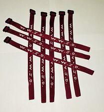 Woven Jesus Religious WWJD Bracelet Fundraiser Fashion Wristband  - Maroon (1)