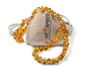 Love Amber x UK Child Goldirocks Genuine Polished Lemon Baltic Amber Necklace