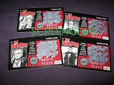 The Munsters TV Illinois State Lotto Lottery tickets used Fred Gwynne Al Lewis