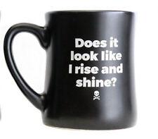 "DEATH WISH COFFEE COMPANY ""RISE AND SHINE"" 14 OZ DINER MUG - NEW"
