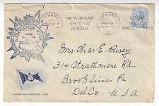 1934 Penang Malaya Straits Settlements Ship Hamburg America Line to Brookline PA