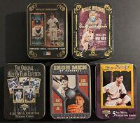 Metallic Impressions + 24K Gold Foil Card - Mantle, Ruth, HOF, Iron Men & Gehrig