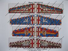 28mm Renaissance Early Tudor  Paper Flags (1) Henry VIII