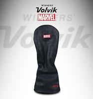 Volvik Premium Marvel Driver Head Cover Black Cowhide Leather VAFFCC01BK Club