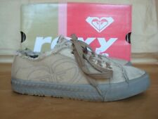 ROXY UK 4 STONE CANVAS TRAINERS BOXED
