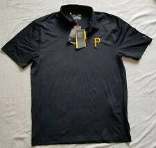 New Authentic Pittsburgh Pirates Under Armour Gray Golf Polo Men's Medium