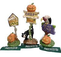 Midwest Of Cannon Falls Creepy Hollow Halloween 3 Creepy Street Signs NEW 1998