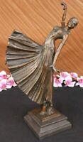 ~D.H Chiparus~ Dancer W/ Long Skirt De Statue Figurine Bronze Sculpture Hot Cast