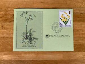 BRITISH VIRGIN ISLANDS 1981 CARD RHS FLOWERS DANCING LADY ORCHID