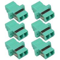 6x LC UPC Fiber Optic Coupler Multi Mode Duplex Optical Adapter Cable Connector