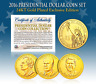2016 US MINT 24K GOLD PLATED PRESIDENTIAL $1 DOLLAR COINS - Final Full Set of 3