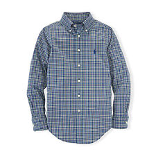 Ralph Lauren Cotton Check Button Cuff Formal Shirts for Men