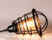 Vintage Industrial Metal Cage Ceiling Pendant Light Lamp Shade