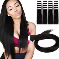 Seamless Tape In Skin Weft 100% Remy Human Hair Extensions Women Straight Hair
