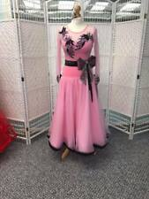 STUNNING PINK & BLACK BALLROOM DRESS HIGHLY DECORATED WITH CRYSTALS (75)