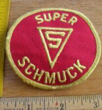 Super Schmuck logo Vintage 1970s patch unused superhero